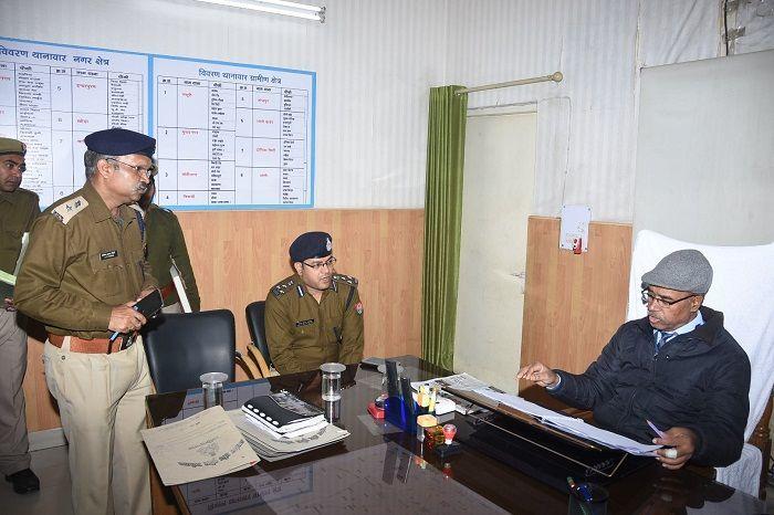 DG मोदी ने किया गाजियाबाद एसएसपी कार्यालय का औचक निरीक्षण
