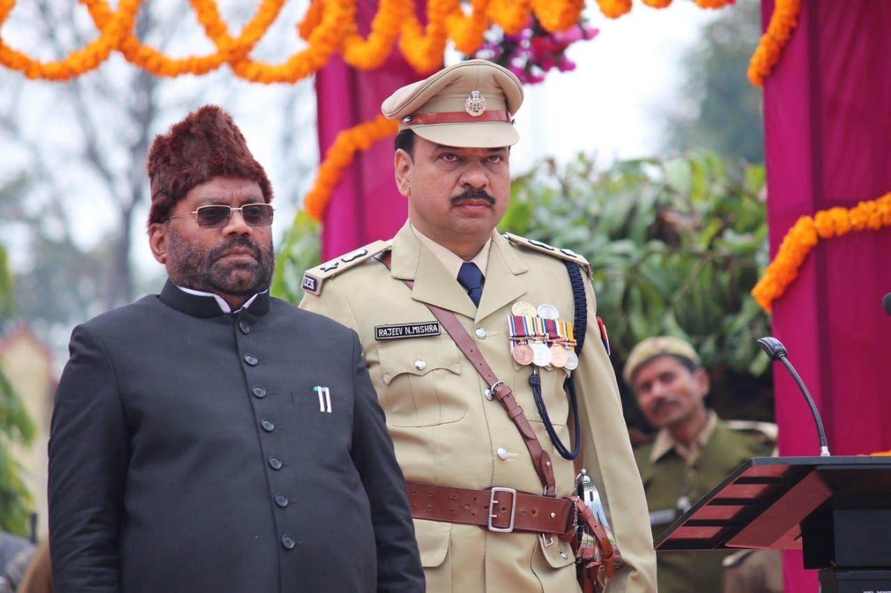 गणतंत्र दिवस  के पावन पर्व पर पुलिस लाइन कुशीनगर में भव्य रैतिक परेड का किया गया आयोजन