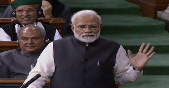 संसद में पीएम ने विपक्ष पर बोला बड़ा हमला, महागठबंधन को बताया