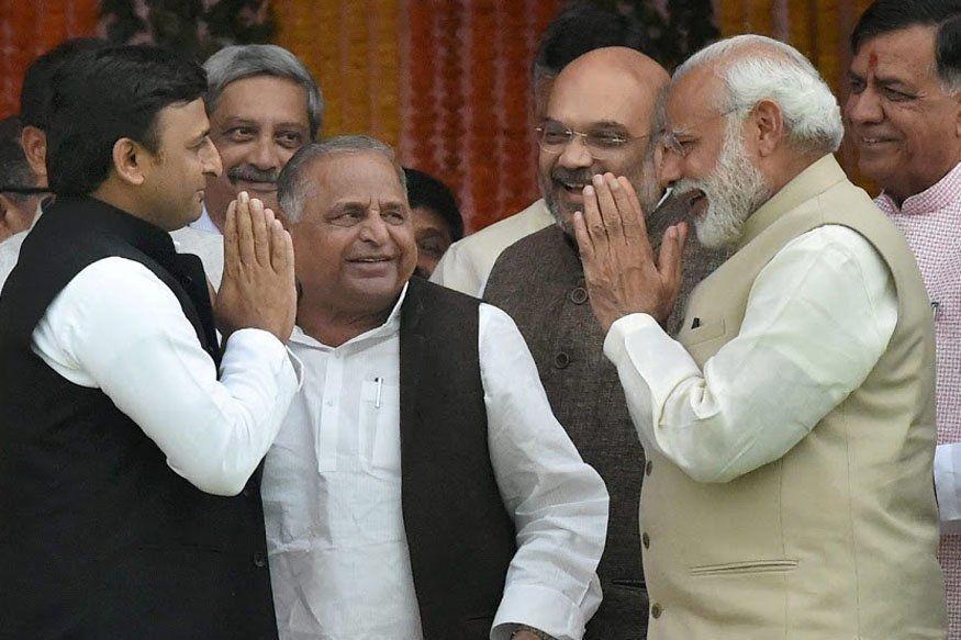 मुलायम सिंह बोले सपा बसपा गठबंधन बेमेल, यूपी में बीजेपी आगे