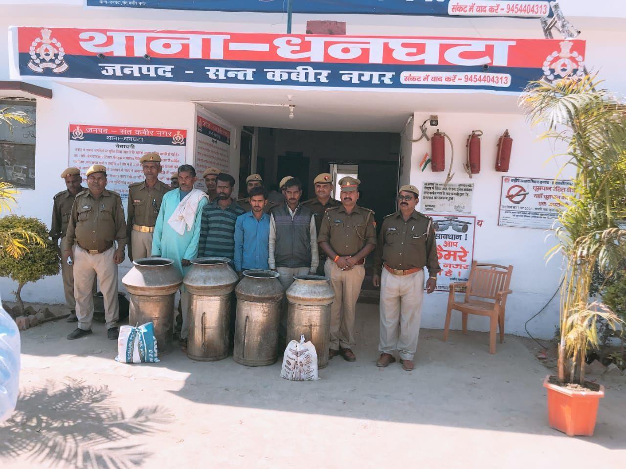 संतकबीरनगर पुलिस ने शराब माफियाओं को भेजा जेल