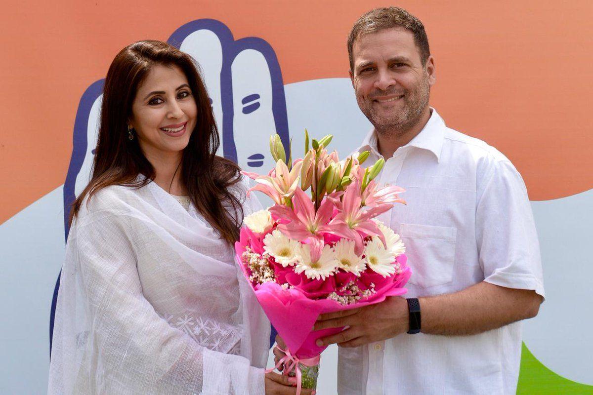 कांग्रेस में शामिल हुईं अभिनेत्री उर्मिला मातोंडकर, इस सीट से लड़ सकतीं हैं लोकसभा चुनाव