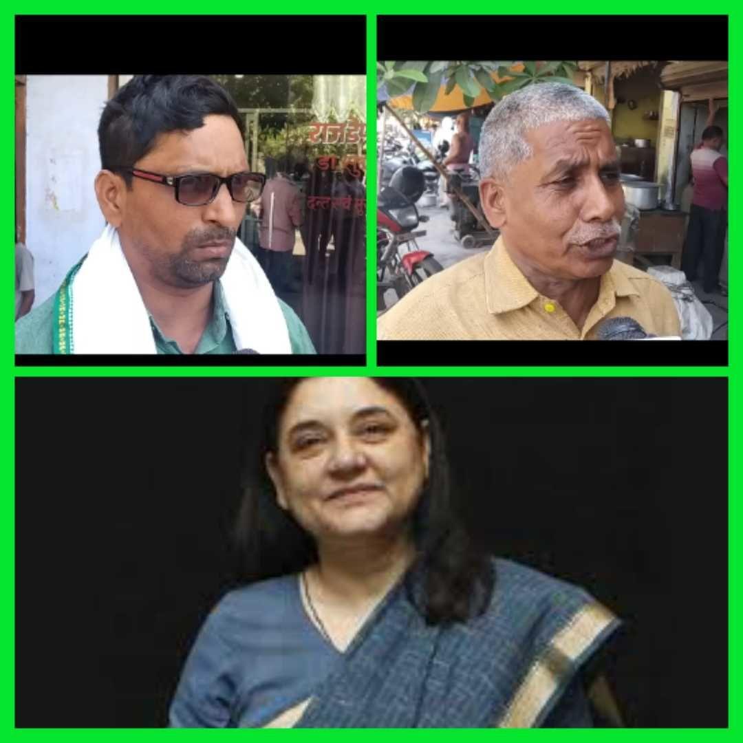 सुल्तानपुर में मेनका गाँधी का किसानों ने किया विरोध