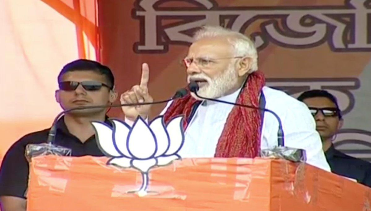 PM मोदी ने कोच बिहार में ममता पर बोला हमला, दीदी डर गई है बीजेपी की भीड़ देखकर