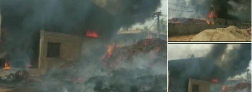 आंध्र प्रदेश के पूर्वी गोदावरी में लगी आग, करोड़ों की क्षति का अनुमान