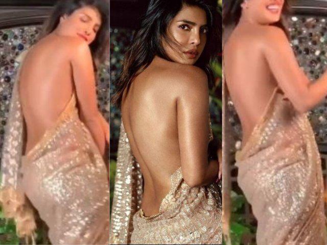 प्रियंका चोपड़ा ने सिर्फ साड़ी पहन कर करवाया फोटोशूट, सोशल मीडिया पर हुईं ट्रोल!