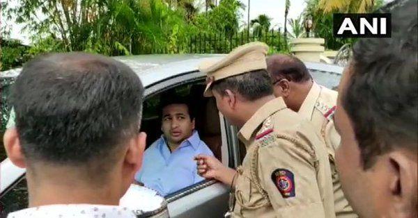 कांग्रेस विधायक नितेश राणे गिरफ्तार