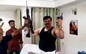 बंदूकबाज विधायक कुंवर प्रणव सिंह चैंपियन पर भाजपा ने की बड़ी कार्यवाई