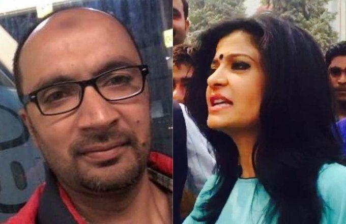 डिबेट में अंजना ओम कश्यप  से भिड़े मुस्लिम पत्रकार!