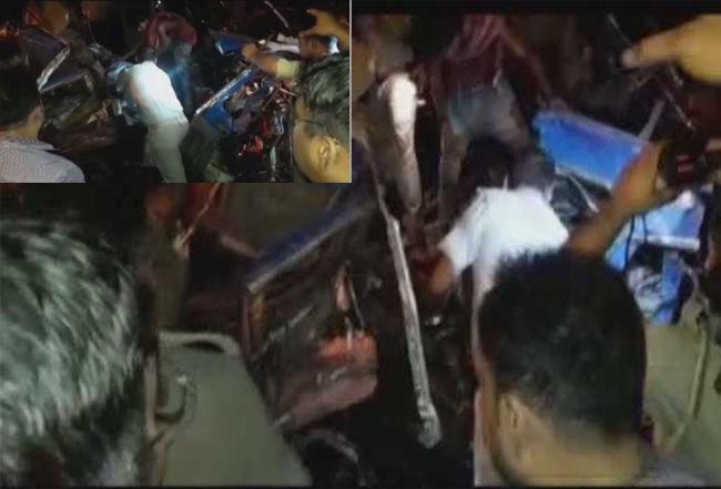 यूपी में बड़ा हादसा, बिजनौर में ट्रक और टैंकर की टक्कर में 5 लोगों की मौत, 5 घायल