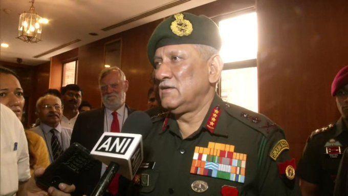 कश्मीर पर बोले आर्मी चीफ जनरल बिपिन रावत, पाकिस्तान को दी ये चेतावनी