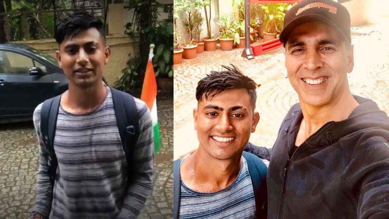 अक्षय कुमार से मिलने 900 किलोमीटर पैदल चलकर पहुंचा फैन, देखिए- VIDEO