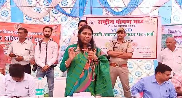 डीएम मुज़फ्फरनगर सेल्वा कुमारी जे ने किया पौष्टिक पोषण कार्यक्रम का शुभारम्भ