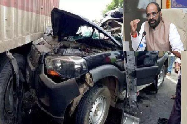 पूर्व केंद्रीय मंत्री हंसराज अहीर का काफिला दुर्घटनाग्रस्त, हादसे में CRPF जवान समेत 2 की मौत