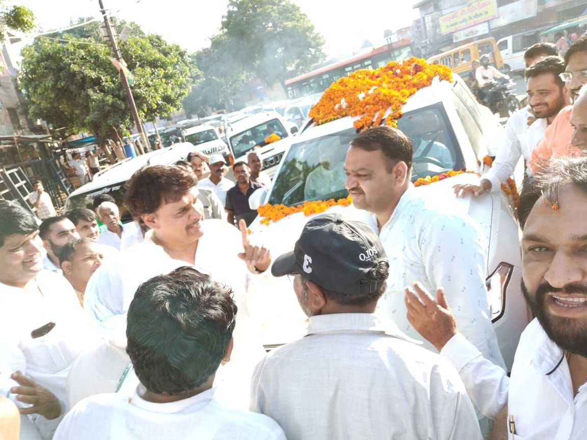 भाजपा के राज्य सभा सांसद सुरेंद्र सिंह नागर की रैली में उमड़ा जन सैलाब