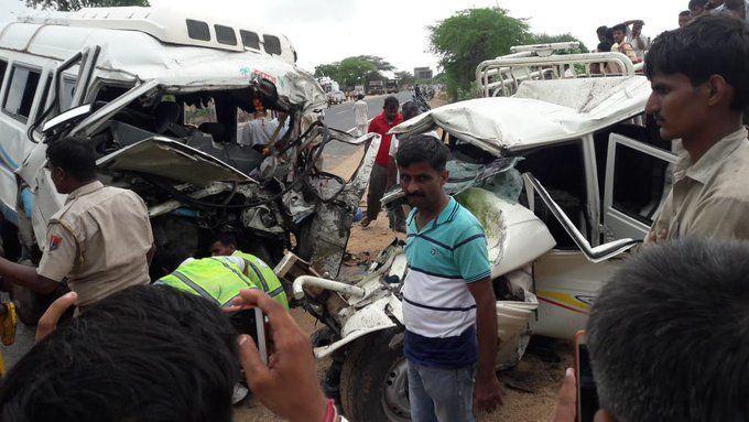 राजस्थान में बड़ा हादसा : जोधपुर के बालेसर में भीषण सड़क दुर्घटना, 15 लोगों की मौत, कई लोग जख्मी
