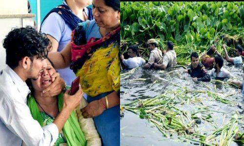 चलती बस में ड्राइवर को आया हार्ट अटैक, महिला ने बस सँभालने का किया प्रयास लेकिन बस तालाब में जा गिरी
