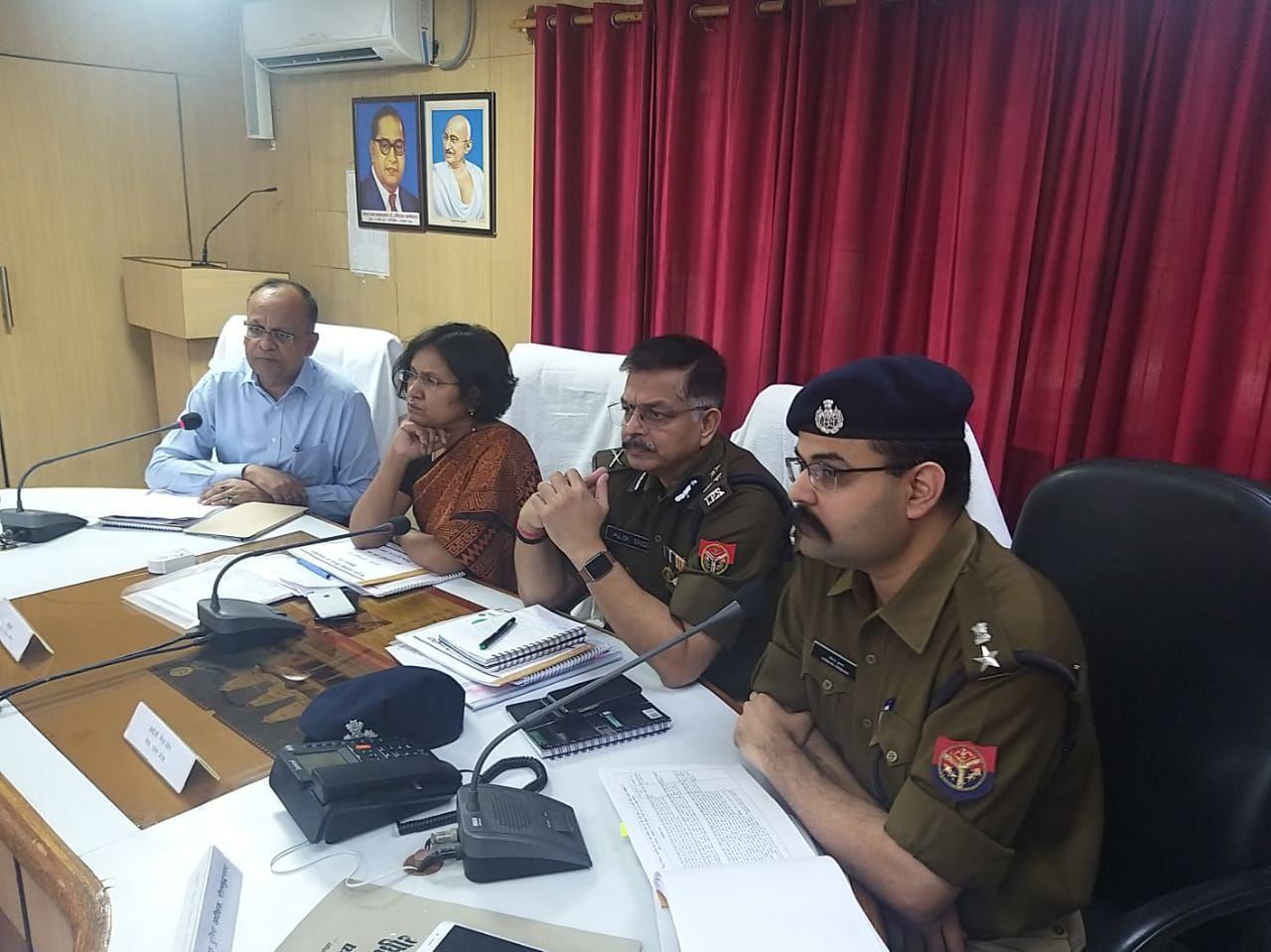 मेरठ कमिश्नर और आईजी ने ली नोएडा के अधिकारियों की मीटिंग, अयोध्या प्रकरण को लेकर तैयारियों का लिया जायजा