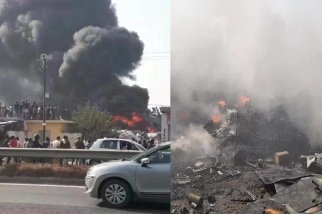 दादरी में कबाड़ी के गोदाम में लगी आग, 6 दमकल वाहनों ने दो घंटे की मस्सकत के बाद पाया आग पर काबू