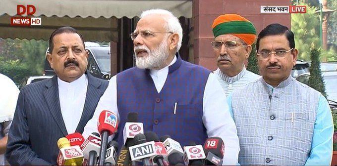 शीतकालीन सत्र से पहले बोले PM मोदी- हर विषय पर चर्चा के लिए तैयार है सरकार