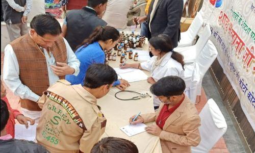 जिला होम्योपैथी विभाग द्वारा किया गया निशुल्क शिविर का आयोजन