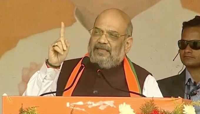 झारखंड के चुनावी रैली में अमित शाह ने कांग्रेस पर कसा तंज, राहुल गांधी को दी ये चुनौती