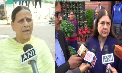 तेलंगाना एनकाउंटर पर बिहार की पूर्व सीएम राबड़ी देवी ने कही ठीक हुआ तो बीजेपी के नेता मेनका गाँधी ने किया विरोध