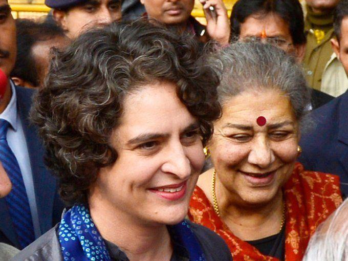 प्रियंका गाँधी ने झारखंड में एक रैली की, जहाँ कांग्रेस पैंसठ हजार मतों से जीती