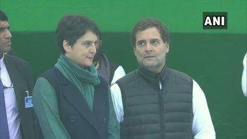 राहुल गांधी और प्रियंका वाड्रा मेरठ के लिए रवाना,