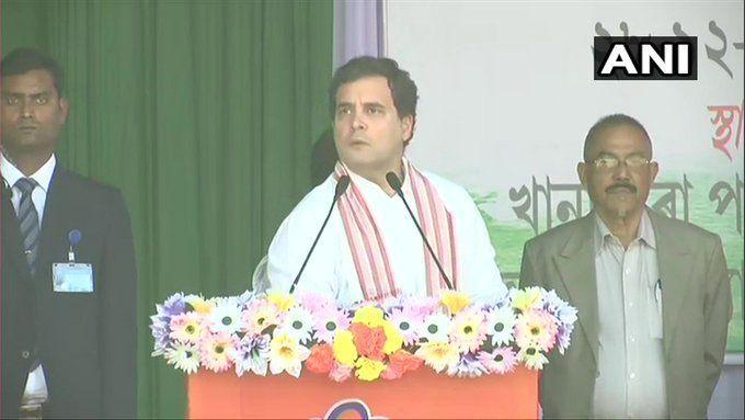 राहुल गांधी का मोदी सरकार पर कड़ा प्रहार बोले- असम को नागपुर और RSS के चड्डीवाले नहीं चलाएंगे