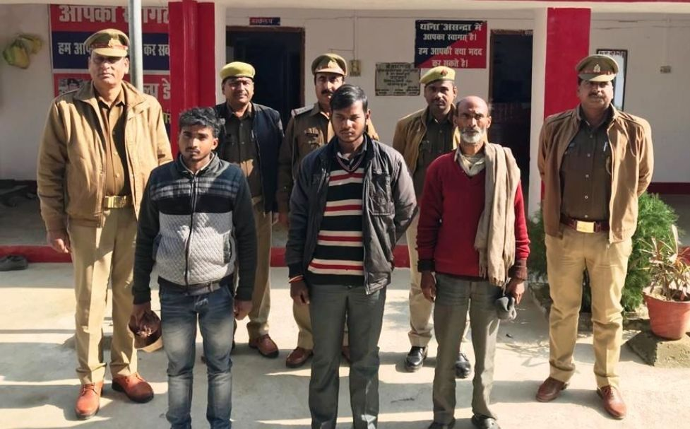 बाराबंकी पुलिस ने हत्या के तीन आरोपी किये गिरफ्तार