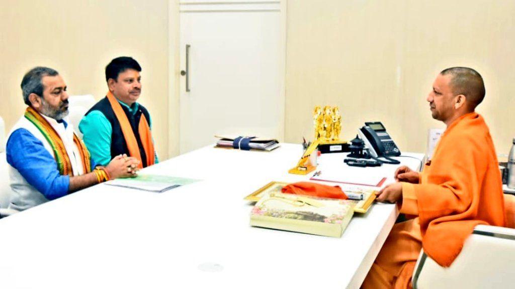 उत्तर प्रदेश कल्याण परिषद के अध्यक्ष सुनील भराला ने की मुख्यमंत्री से भेट