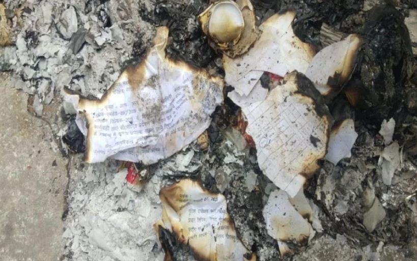 पुलिस कमिश्नर के चार्ज लेने से पहले ही मचा हड़कम्प,एसएसपी कार्यालय की फाइलों में लगी आग