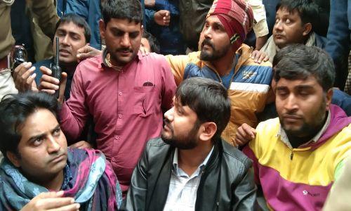 JNU के पूर्व छात्र कन्हैया कुमार को पुलिस ने किया गिरफ्तार