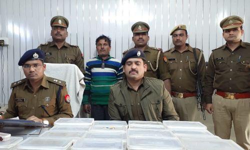 पुलिस ने किया अवैध हथियारों की फैक्ट्री का भंडाफोड़, मौके से हथियार बनाते हुए एक व्यक्ति गिरफ्तार