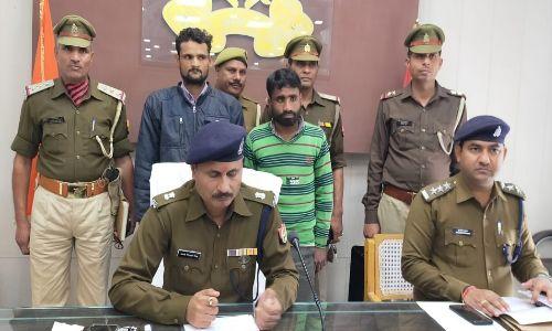 पुलिस ने 8 मोटरसाइकिल के साथ दो को किया गिरफ्तार
