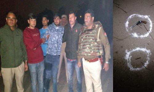 पुलिस मुठभेड़ के बाद 25 हजार का इनामिया बदमाश गिरफ्तार,रिटायर्ड कर्नल की स्कॉर्पियो कार लूट में था वाछिंत