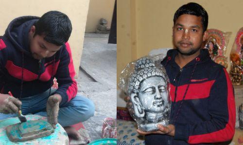 मूर्तिकार राजू ने विदेश में भी बजाया भारत का डंका