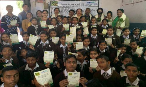 जी-वन(ट्रंस्ट)व एफ एक्स बी इंडिया सुरक्षा ने बच्चों को किया जागरूक