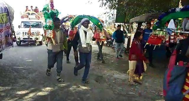 बिजनौर : कावड़ियों  की थकान इस प्राचीन भैरो बाबा के मंदिर मे सोटे से थकान भी पल भर मे उतर जाती है