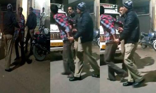 पुलिस की दबंगई का वीडियो वायरल एसपी ने किया दोनों सिपाहियों को निलंबित