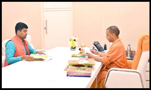 छात्रनेता ने मुख्यमंत्री योगी से मुलाकात कर छात्रों की समस्याओं से कराया रूबरू