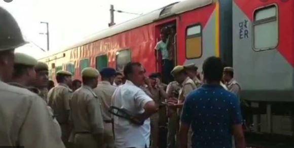 राजधानी एक्सप्रेस में बम की खबर झूठी जांच के बाद ट्रेन डिब्रूगढ़ रवाना