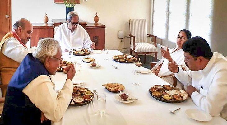 जब अमित शाह और ममता बनर्जी ने एक टेबल पर साथ किया लंच, नवीन पटनायक के घर नीतीश भी थे मौजूद