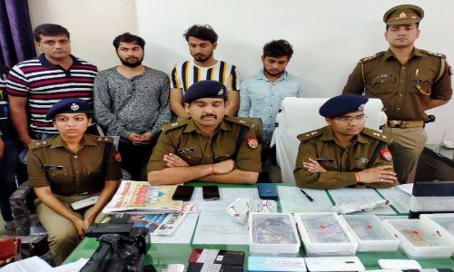 पुलिस मुठभेड के बाद नोएडा पुलिस ने पकड़े पाँच शातिर लुटेरे