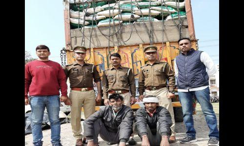 दो अन्तर्राज्यीय शराब तस्करों को पुलिस ने किया गिरफ्तार, कब्जे से 300 पेटी अवैध शराब बरामद