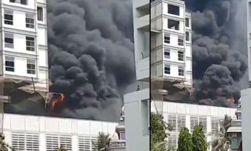 नवी मुंबई में आग का तांडव, डीवाई पाटिल हॉस्टल में आग