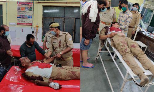 मुजफ्फरनगर में लॉक डाउन के दौरान पुलिस पर हमला, सिपाही दरोगा घायल