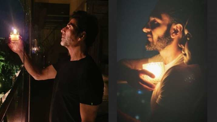 #9Baje9Minute : अक्षय कुमार, दीपिका पादुकोण और रणवीर सिंह सहित कई सितारों ने जलाए दीये