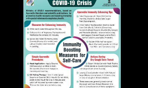कोविड 19 संकट: आयुष मंत्रालय ने दी जानकारी, इन पांच उपायों से बच सकते है कोरोना से आप!